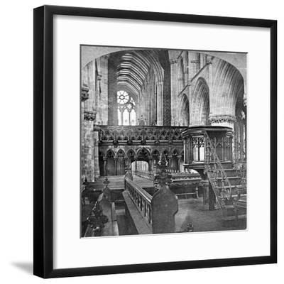Interior of Glasgow Cathedral, Scotland, Late 19th Century-Underwood & Underwood-Framed Giclee Print