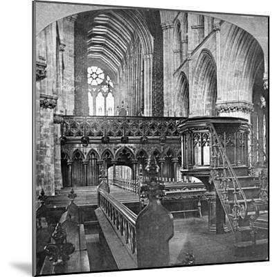 Interior of Glasgow Cathedral, Scotland, Late 19th Century-Underwood & Underwood-Mounted Giclee Print