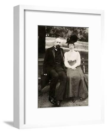 Portrait of the Prime Minister of Imperial Russia Pyotr Stolypin with His Wife, 1910--Framed Giclee Print