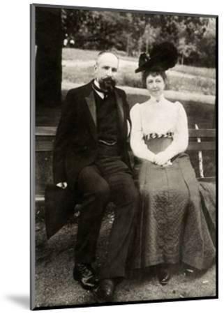 Portrait of the Prime Minister of Imperial Russia Pyotr Stolypin with His Wife, 1910--Mounted Giclee Print