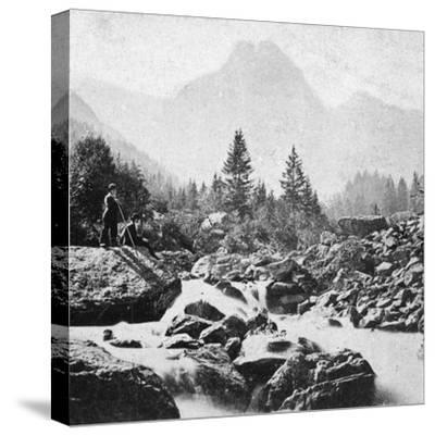 The Wellhorn at Rosenlain, Switzerland, Early 20th Century-Underwood & Underwood-Stretched Canvas Print