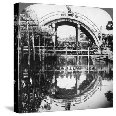 A Semi-Circular Bridge in Japan, 1896-Underwood & Underwood-Stretched Canvas Print