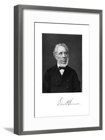 Edward Baines, English Newspaper-Proprietor and Politician--Framed Giclee Print