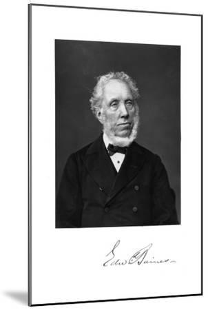 Edward Baines, English Newspaper-Proprietor and Politician--Mounted Giclee Print