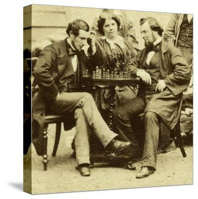 Chess and Cards, C1850s--Stretched Canvas Print