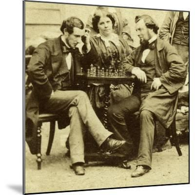 Chess and Cards, C1850s--Mounted Giclee Print