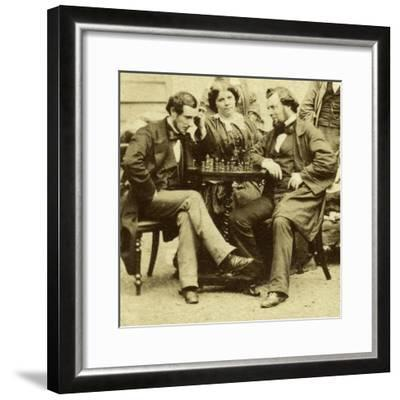 Chess and Cards, C1850s--Framed Giclee Print
