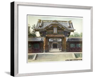 Temple Gate, Shiba, Tokyo, Japan, Early 20th Century--Framed Giclee Print