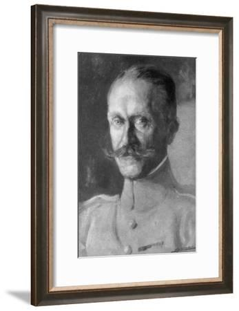 General Duval, Head of the French Air Force, 1918--Framed Giclee Print