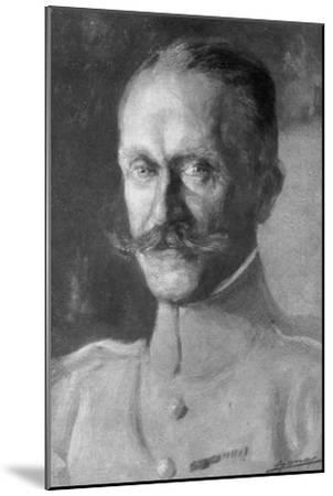 General Duval, Head of the French Air Force, 1918--Mounted Giclee Print