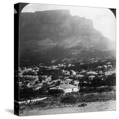 Table Mountain, Cape Town, South Africa-Underwood & Underwood-Stretched Canvas Print