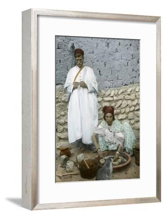 Mohamed Ben Ali and His Wife, El Kantara, Tunisia--Framed Giclee Print