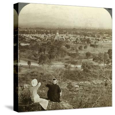 Pagodas, Mandalay, Burma, C1900s-Underwood & Underwood-Stretched Canvas Print