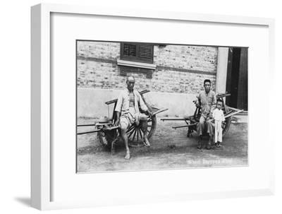 Men with Wheelbarrows, Vietnam, 20th Century--Framed Giclee Print