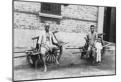 Men with Wheelbarrows, Vietnam, 20th Century--Mounted Giclee Print