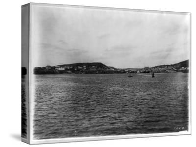 Vladivostok - Panoramic View from Harbor-William Henry Jackson-Stretched Canvas Print