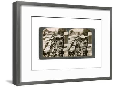 An Open Bazaar in Damascus, Syria, 1900s-Underwood & Underwood-Framed Giclee Print