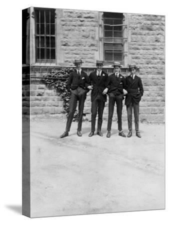 A Group of Schoolboys or Students, C1900s-C1930S--Stretched Canvas Print