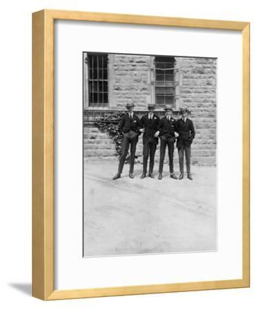 A Group of Schoolboys or Students, C1900s-C1930S--Framed Giclee Print