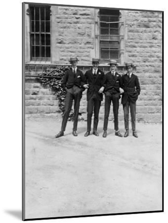 A Group of Schoolboys or Students, C1900s-C1930S--Mounted Giclee Print