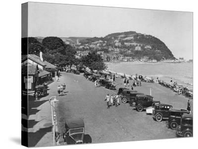 Seaside Resort of Minehead, Somerset, Early 1930s--Stretched Canvas Print