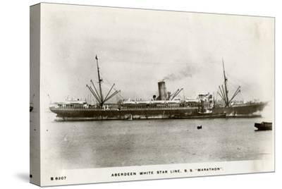 SS Marathon, Aberdeen White Star Line Steamship, C1903-C1920- Kingsway-Stretched Canvas Print