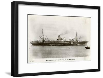 SS Marathon, Aberdeen White Star Line Steamship, C1903-C1920- Kingsway-Framed Giclee Print