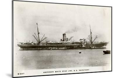 SS Marathon, Aberdeen White Star Line Steamship, C1903-C1920- Kingsway-Mounted Giclee Print