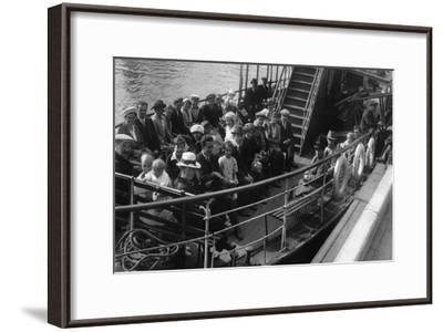 Passengers on Board a Boat, Bournemouth, Dorset, 1921--Framed Giclee Print