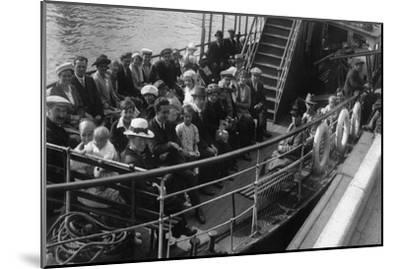 Passengers on Board a Boat, Bournemouth, Dorset, 1921--Mounted Giclee Print