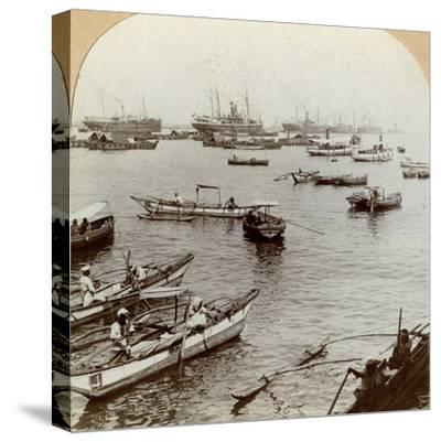 Colombo Harbour, Ceylon (Sri Lank)--Stretched Canvas Print