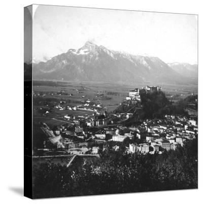 The Kapuzinerberg, Salzburg, Austria, C1900-Wurthle & Sons-Stretched Canvas Print