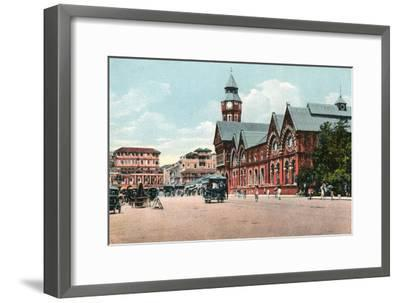 Crawford Market, Bombay, India, Early 20th Century--Framed Giclee Print