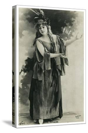 Tiphaine, French Actress, Late 19th or Early 20th Century--Stretched Canvas Print