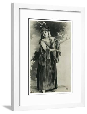 Tiphaine, French Actress, Late 19th or Early 20th Century--Framed Giclee Print