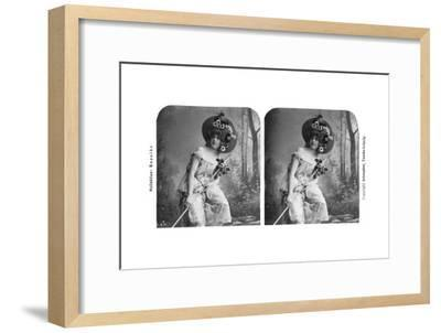 Portrait of a Costumed Woman, Early 20th Century- Aristophot-Framed Giclee Print