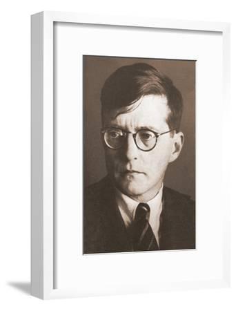 Portrait of the Composer Dmitri Shostakovich (1906-197), 1930S--Framed Giclee Print