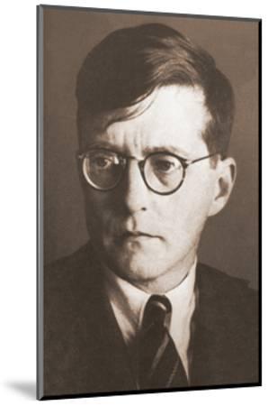 Portrait of the Composer Dmitri Shostakovich (1906-197), 1930S--Mounted Giclee Print