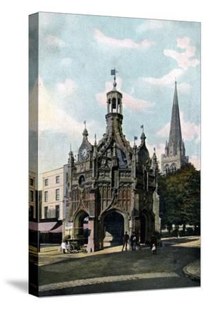 The Cross and Cathedral, Chichester, West Sussex, Early 20th Century--Stretched Canvas Print