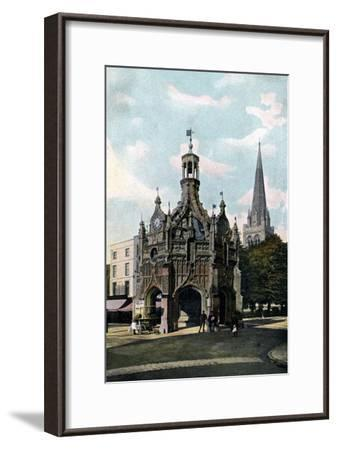 The Cross and Cathedral, Chichester, West Sussex, Early 20th Century--Framed Giclee Print