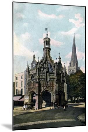 The Cross and Cathedral, Chichester, West Sussex, Early 20th Century--Mounted Giclee Print