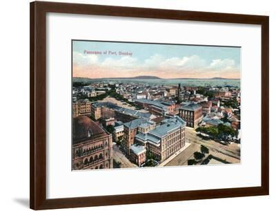 Panorama of the Fort, Bombay, India, Early 20th Century--Framed Giclee Print