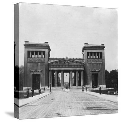 Propylaen, Munich, Germany, C1900-Wurthle & Sons-Stretched Canvas Print