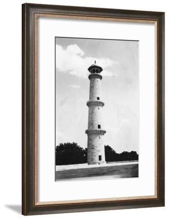 A Minaret at the Taj Mahal, Agra, India, 1916-1917--Framed Giclee Print