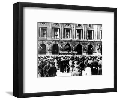 German Military Band Giving a Concert, Occupied Paris, 1940-1944--Framed Giclee Print