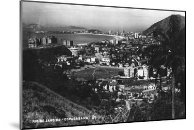 Copacabana, Rio De Janeiro, Brazil, C1937--Mounted Giclee Print