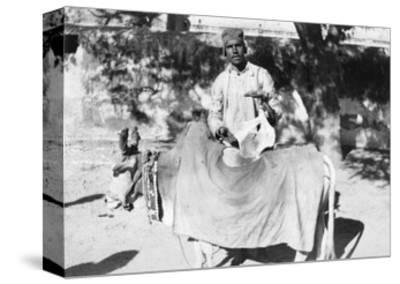 Man with a Deformed Cow, India, 1916-1917--Stretched Canvas Print