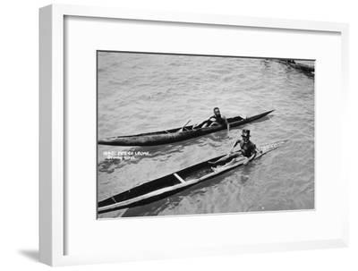 Diving Boys, Sierra Leone, 20th Century--Framed Giclee Print