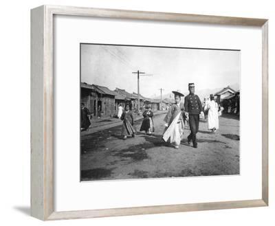Street Scene, Korea, C1900--Framed Giclee Print