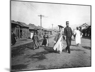 Street Scene, Korea, C1900--Mounted Giclee Print